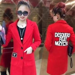 Áo khoác dạ nữ thời trang hàng Quảng Châu