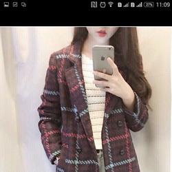 Áo khoác dạ cổ lông vũ hàng xuất khẩu dư mẩu mới 2016