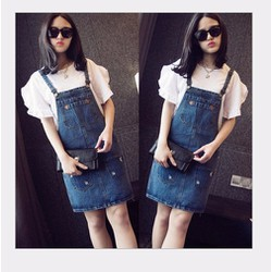 Váy yếm jean ngắn VYN02