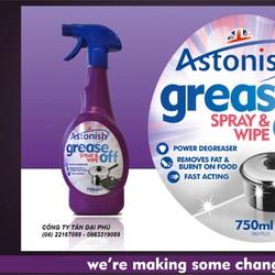 Chai xịt tẩy rửa dầu mỡ Astonish Grease off