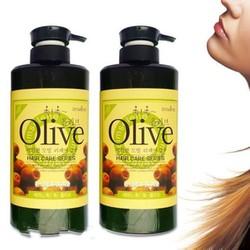 Bộ dầu gội và xả tóc Oliu