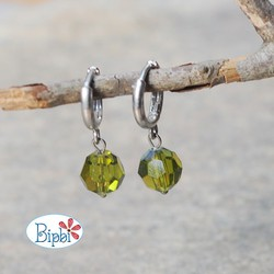 KTP 233 - Bông tai pha lê Swarovski màu olivine