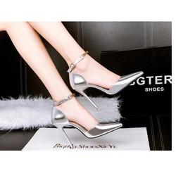 Giày gót nhọn thanh lịch- màu bạc