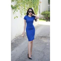 Đầm body hoa hồng xanh