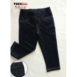 Quần legging thun jean bé gái-size lớn 23-30kg