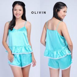 Đồ bộ mặc nhà OLIVIN nữ tính quyến rũ DN01 SDA