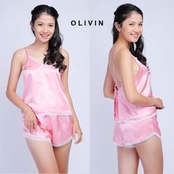 Đồ bộ mặc nhà OLIVIN nữ tính quyến rũ DN07 SDC