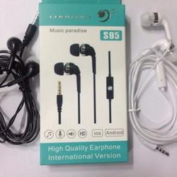 Tai nghe nhét tai kèm mic Coolcold S95 đen