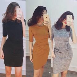 đầm ôm body xếp li cực đẹp Body Dress