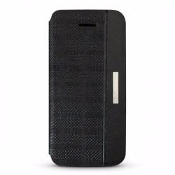 Bao da iPhone 5-5S hiệu D.Ray Clpe màu đen chất liệu da thật