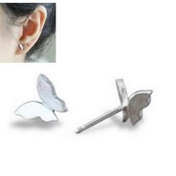 Bông tai bạc cánh bướm bé xinh