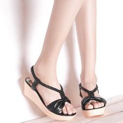giày Sandal nữ, đế xuồng chỉ 5p