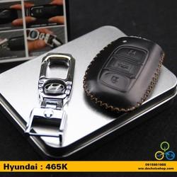 Móc chìa khóa kèm bao da xe ô tô logo Huyndai