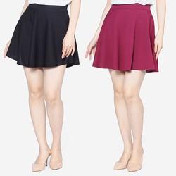 Bộ 2 Chân váy xòe xếp ly trên gối cao cấp ZENKO CS3 007 B P