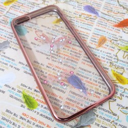 Ốp lưng nhựa dẻo iPhone 5-5S trong suốt viền màu mẫu 2