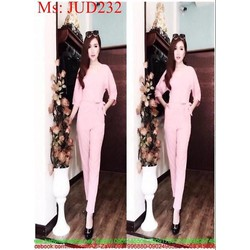 Jum dài hồng dài tay thắt eo xinh đẹp JUD232