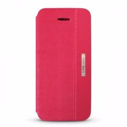 Bao da iPhone 5-5S hiệu D.Ray Clpe màu hồng chất liệu da thật