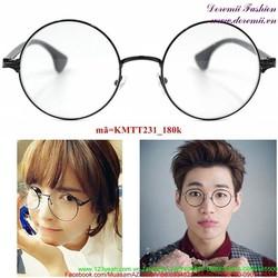 Kính mát thời trang gọng tròn Hàn Quốc sành điệu KMTT231