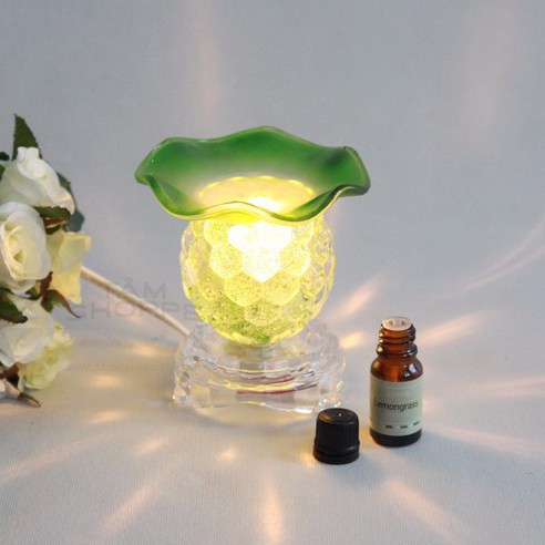 Combo 01 Đèn xông tinh dầu thủy tinh trái nho + 01 tinh dầu 10ml 1
