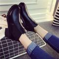 Giày Boot nữ da gót vuông kiểu mới - LN665