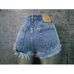 Short jean tua lai lưng cao