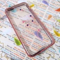Ốp lưng nhựa dẻo iPhone 5-5S trong suốt viền màu mẫu 4