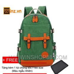 balo nam thời trang đi học + Tặng túi chống sốc laptop Winwinshop88