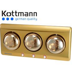 Đèn sưởi nhà tắm Kottmann K3BG 3 bóng vàng