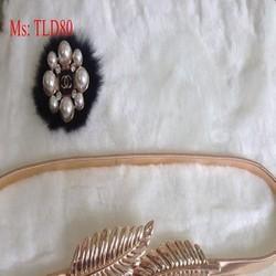 Dây nịt nữ mang đầm bản nhỏ hình chiếc lá sành điệu TLD80