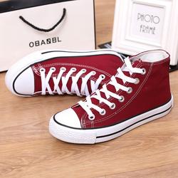 Giày Sneaker Nữ Cao Cổ Classic Đỏ