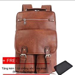 Balo da nữ thời trang đi học + tặng túi chống sóc Laptop Winz.vn