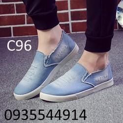Giày lười nam jean cá tính C96