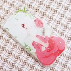 Ốp lưng iPhone 6 Plus hình cô gái hoa nhựa dẻo trong suốt mẫu 5