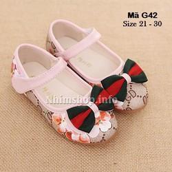 Giày đính nơ bé gái 1 - 5 tuổi G42
