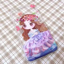Ốp lưng dẻo iPhone 6 Plus công chúa Chibi dễ thương