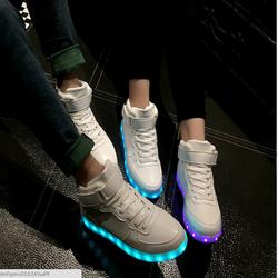Giày Phát Sáng - Giày Cổ Cao MLYZ _ Giày Giá Rẻ