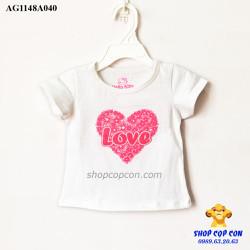 Áo thun hình tim màu trắng