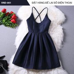 Đầm xòe thiết kế 2 dây chéo cung cấp bởi vnHieu