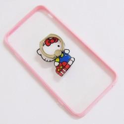Ốp lưng nhựa dẻo iPhone 6-6S-6G 4.7 viền màu hồng trong suốt mẫu 4