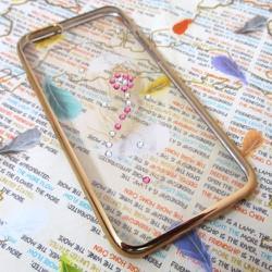 Ốp lưng viền màu iPhone 6-6S đính đá siêu bền mẫu 3