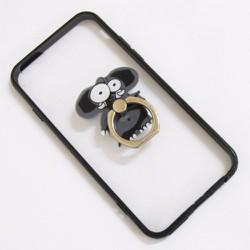 Ốp lưng nhựa dẻo iPhone 6-6S-6G 4.7 viền màu đen trong suốt mẫu 1