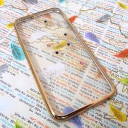 Ốp lưng viền màu iPhone 6-6S đính đá siêu bền mẫu 2
