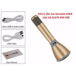 Micro kiêm loa Karaoke bluetooth K068