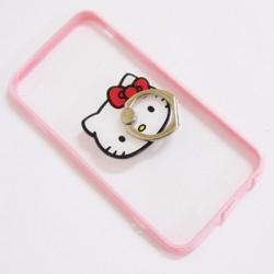 Ốp lưng nhựa dẻo iPhone 6-6S-6G 4.7 viền màu hồng trong suốt mẫu 5