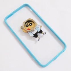 Ốp lưng dẻo iPhone 6-6S-6G 4.7 viền màu xanh dương trong suốt mẫu 5