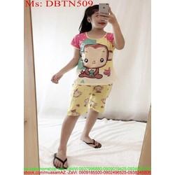 Đồ bộ nữ mặc nhà lửng hình chú khỉ ngộ nghĩnh DBTN509