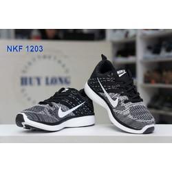 Giày NK Air đen xám