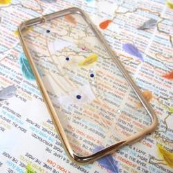 Ốp lưng viền màu iPhone 6-6S đính đá siêu bền mẫu 4