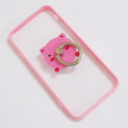 Ốp lưng nhựa dẻo iPhone 6-6S-6G 4.7 viền màu hồng trong suốt mẫu 2