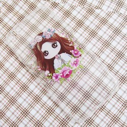 Ốp lưng silicon iPhone 6-6S hình cô gái bông hoa dễ thương mẫu 1
